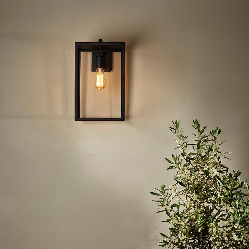 Astro Box Lantern 450 Wall Light Black C