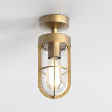 Astro Cabin Semi Flush Coastal Surface Downlight Coastal Brass