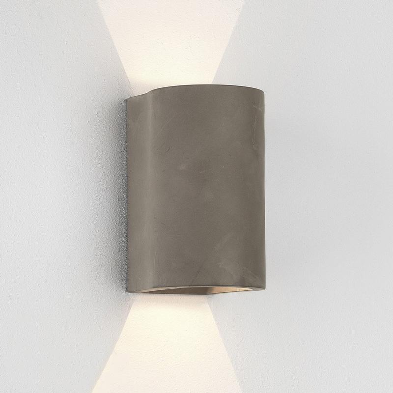 Astro Dunbar 160 Concrete Wall Light Concrete