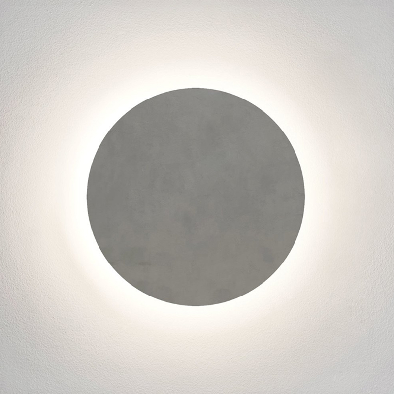 Astro Eclipse Round 300 Concrete Wall Light Concrete
