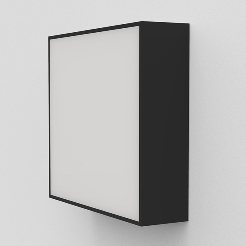 Astro Kea 240 Square Wall Light Black C