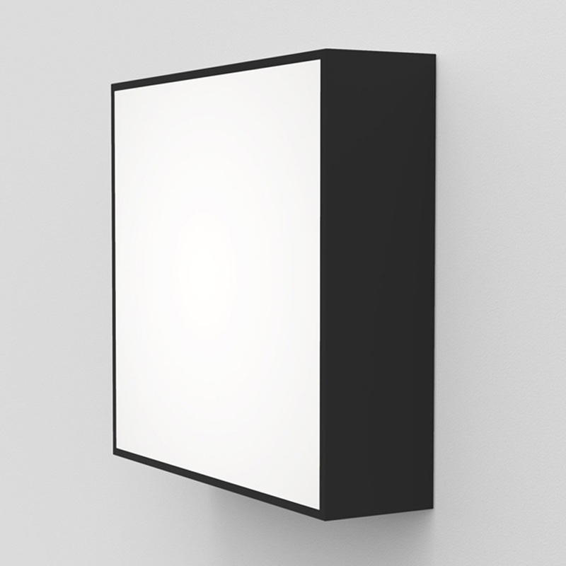Astro Kea 240 Square Wall Light Black D