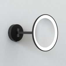 Astro Lighting Mascali Round Led Illuminated Mirror Matt Black