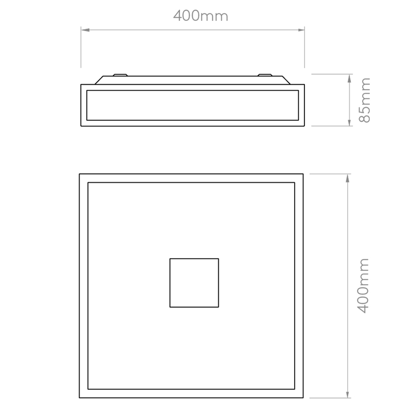 Astro Mashiko 400 Square Led Line Drawing