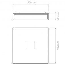 Astro Mashiko 400 Square Led Emergency Selftest Line Drawing