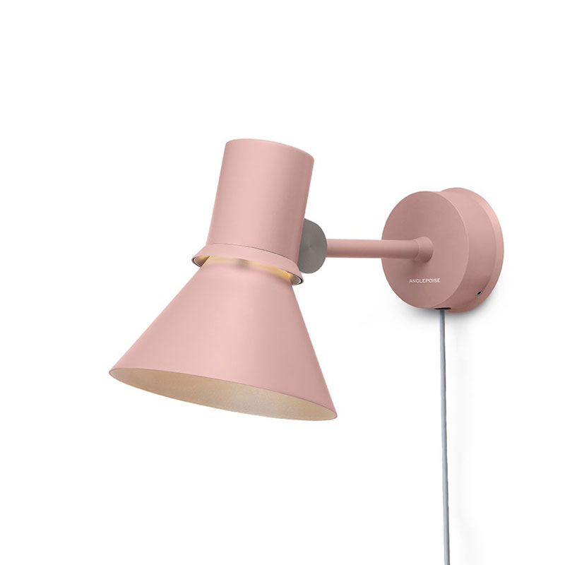Anglepoise Type 80 Plug & Cable Wall Light Rose Pink B