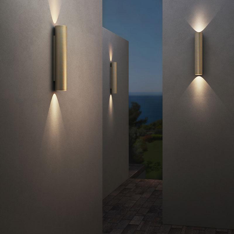 Astro Ava 400 Coastal Wall Light Coastal Brass D