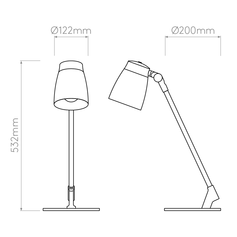 Astro Lighting Atelier Desk Lamp Line Drawing