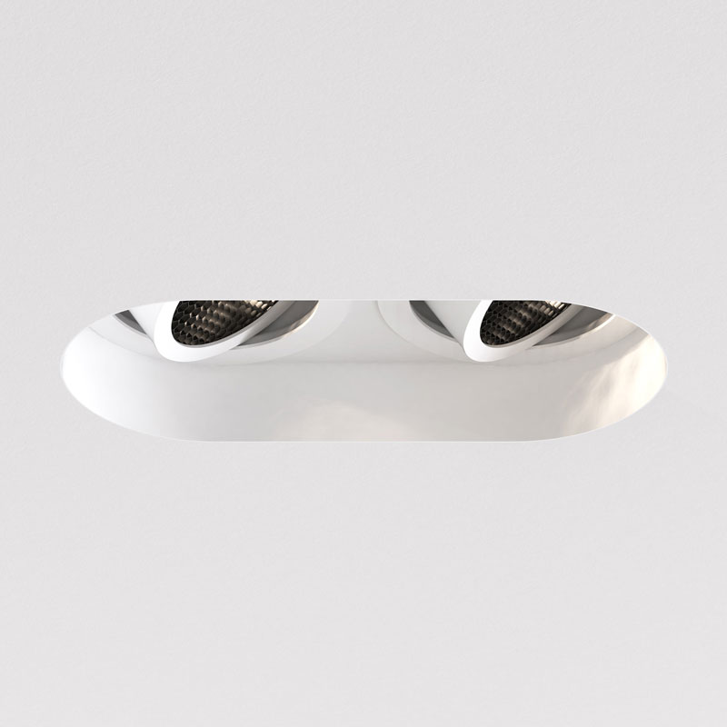Astro Trimless Round Twin Adjustable Downlight White