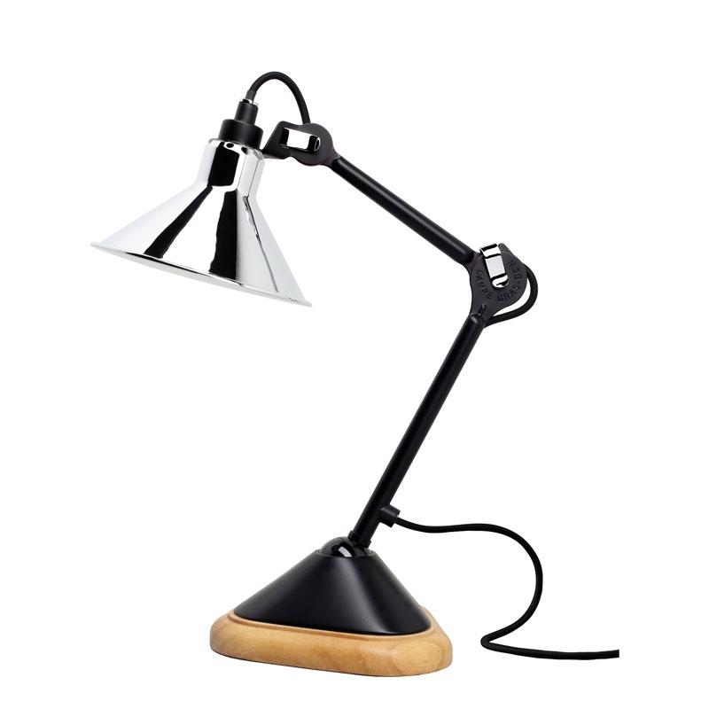 Lampe Gras N207 Table Lamp Black Body Chrome Shade