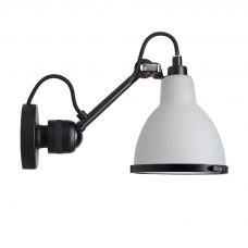 Lampe Gras N304 Bathroom Wall Light Black Body Opal Shade