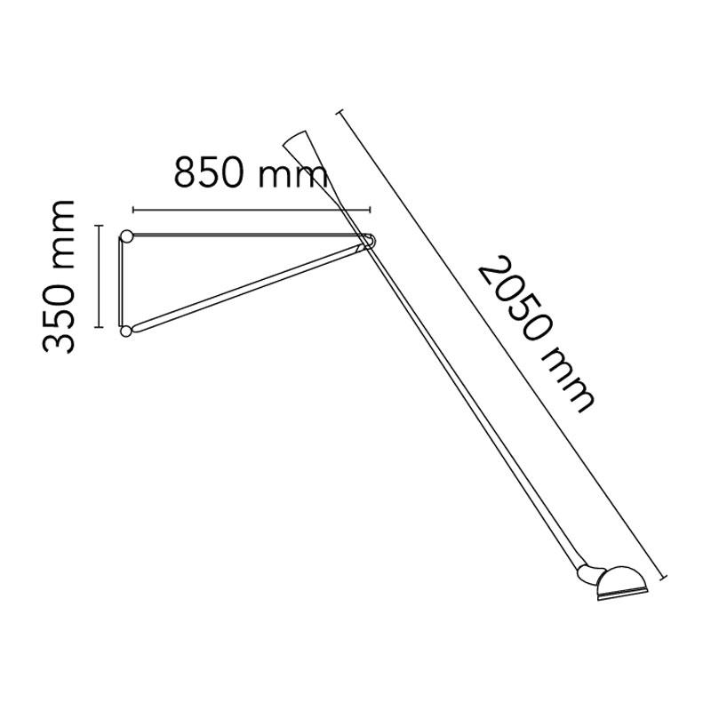 Flos 265 Wall Light Line Drawing