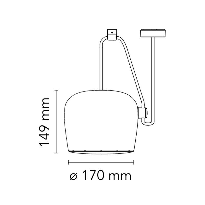 Flos Aim Small Pendant Light Line Drawing