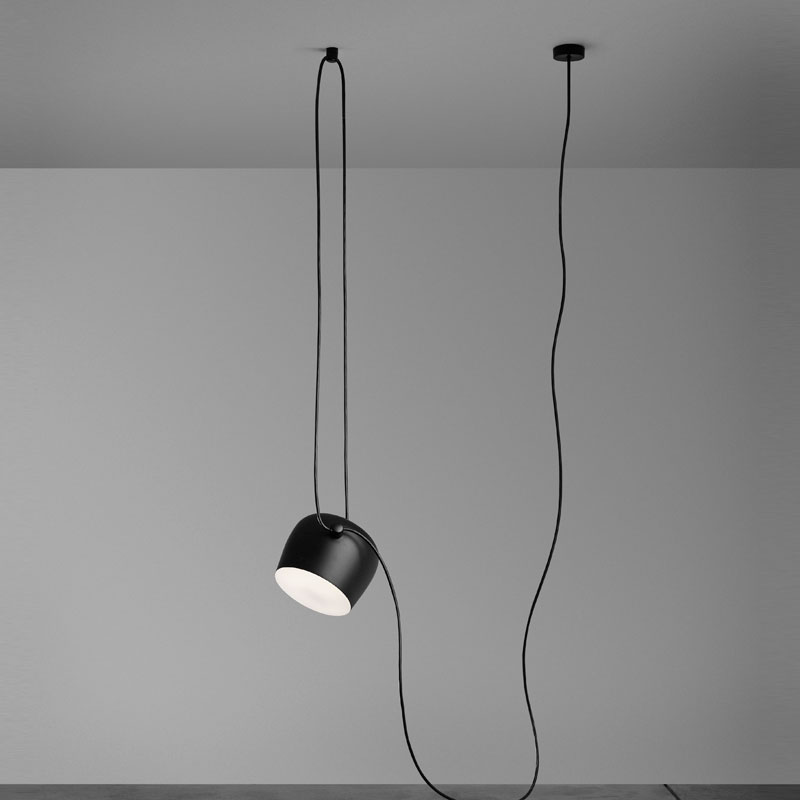 Flos Aim Small Pendant Light Black