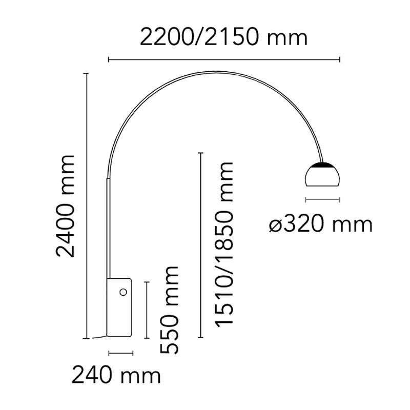 Flos Arco Floor Lamp Line Drawing