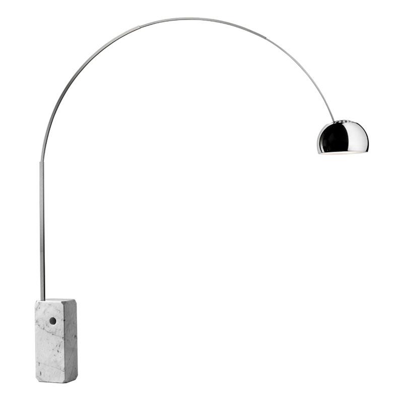 Flos Arco Floor Lamp Stainless Steel