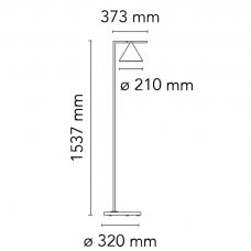 Flos Captain Flint Outdoor Floor Lamp Line Drawing