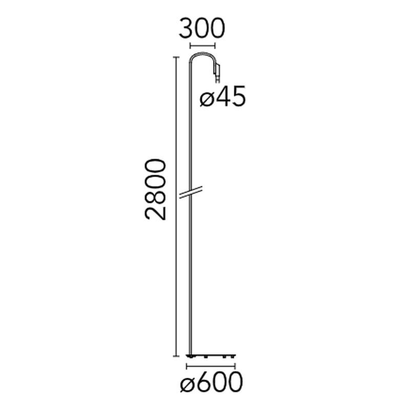 Flos Caule F5 Floor Lamp Line Drawing