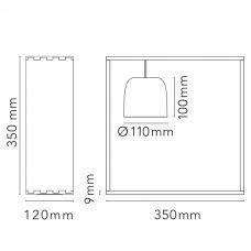 Flos Gaku Wire Table Lamp Line Drawing