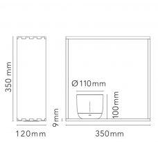 Flos Gaku Wireless Table Lamp Line Drawing