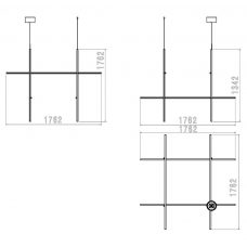 Flos Coordinates Module Pendant Light Line Drawing