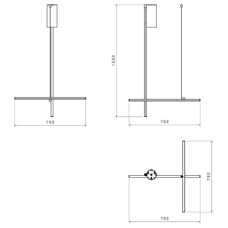 Flos Coordinates C1 Ceiling Light Line Drawing