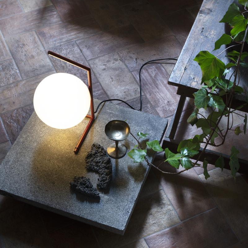 Flos Ic Light T1 Low Table Lamp Burgundy B