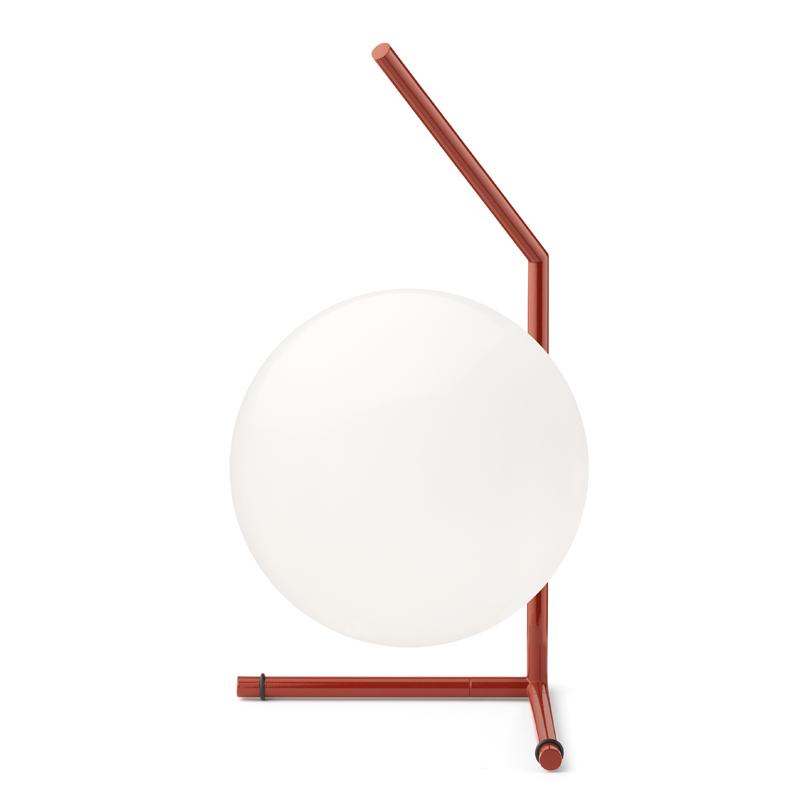 Flos Ic Light T1 Low Table Lamp Burgundy