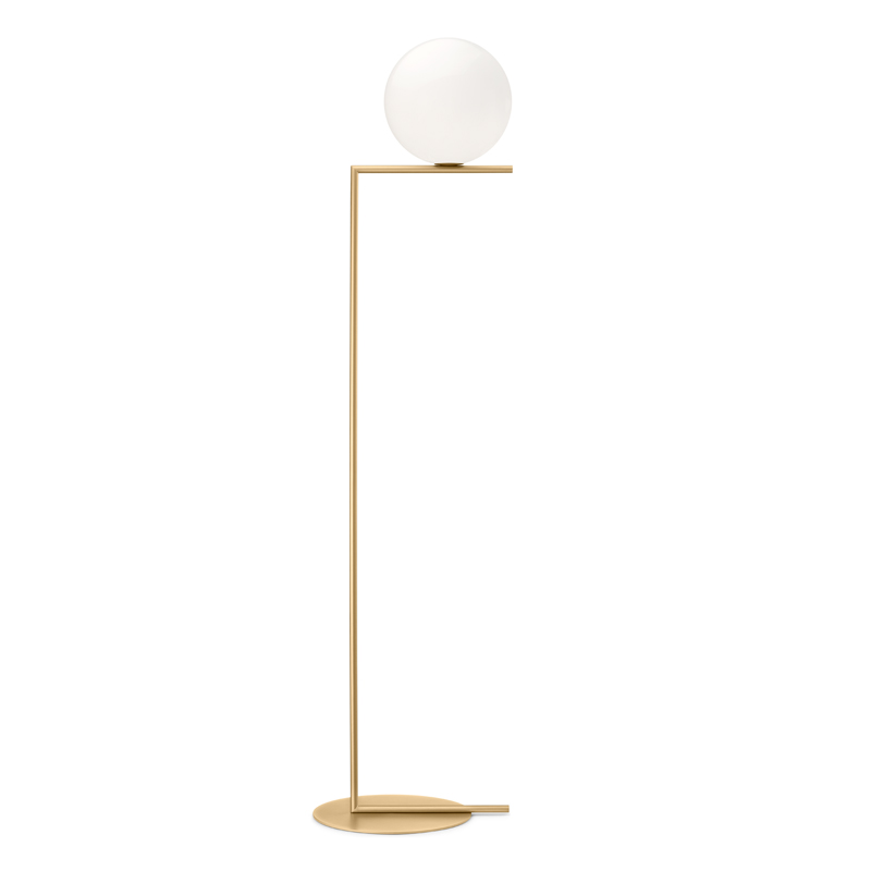 Flos Ic F2 Floor Lamp Brushed Brass