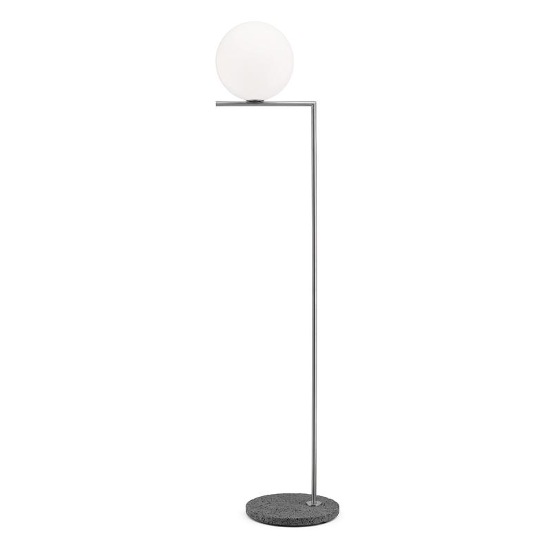 Flos Ic F2 Outdoor Floor Lamp Stainless Steel
