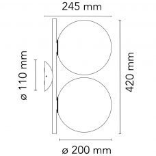 Flos Ic Light Cw1 Double Wall Light Line Drawing