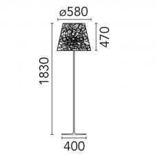Flos Ktribe F3 Outdoor Floor Lamp Line Drawing