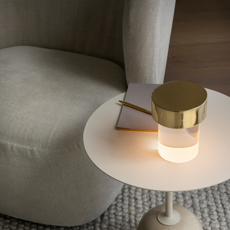 Flos Last Order Table Lamp Brass Clear On B