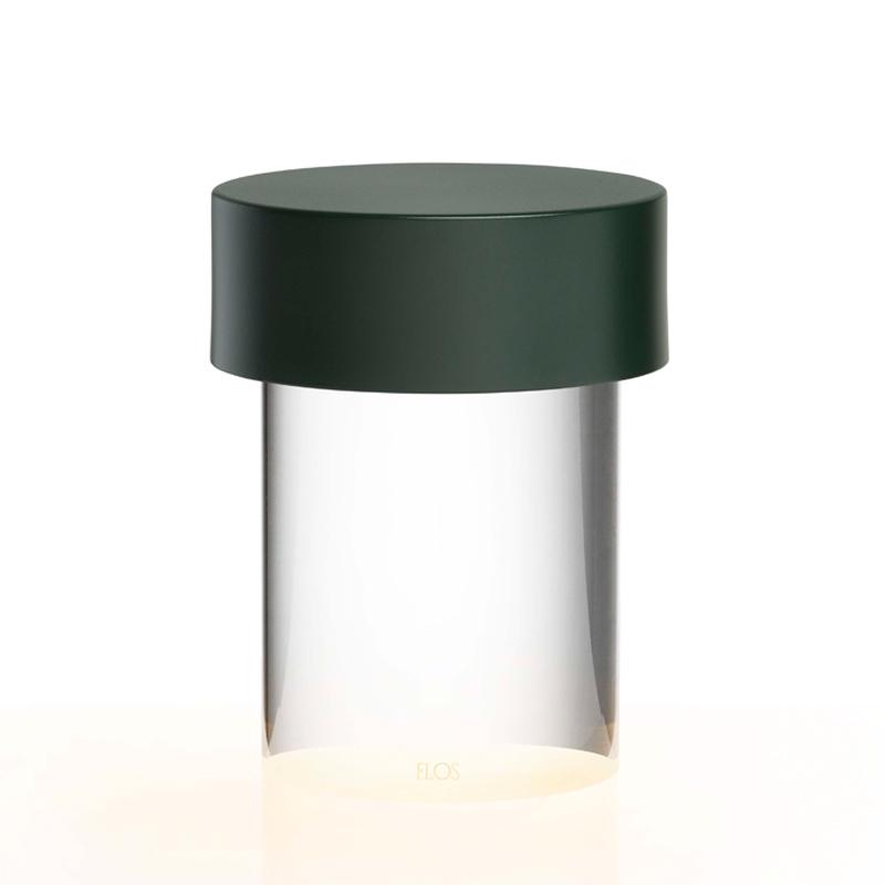 Flos Last Order Outdoor Table Lamp Matt Green Clear On