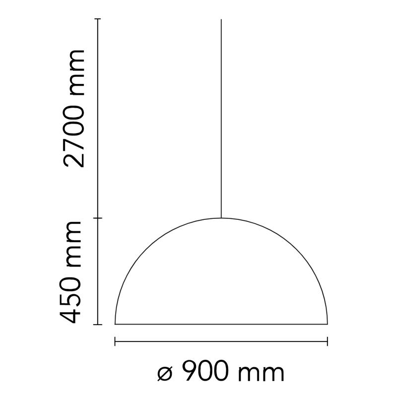Flos Skygarden S2 Pendant Light Line Drawing