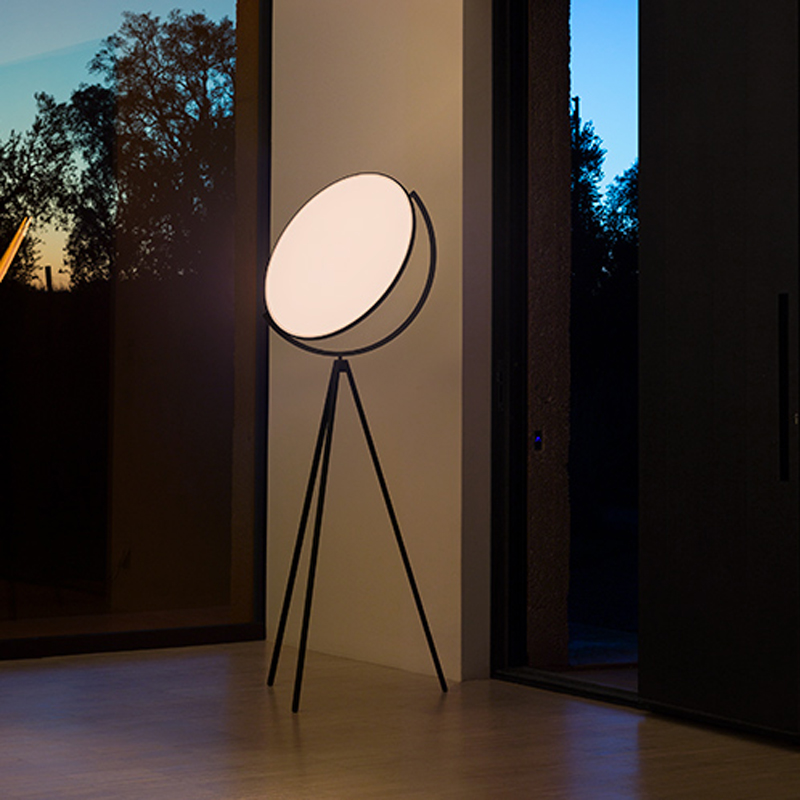 Flos Superloon Floor Lamp Black D