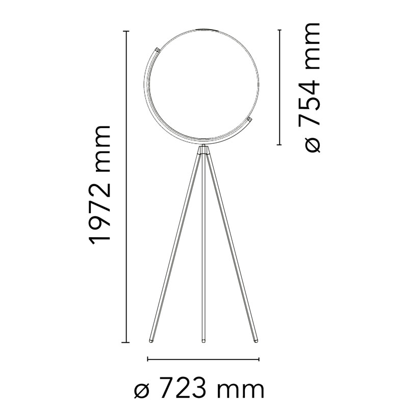 Flos Superloon Floor Lamp Line Drawing