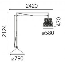 Flos Superarchimoon Outdoor Floor Lamp Line Drawing