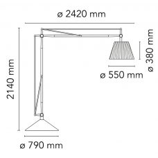 Flos Superarchimoon Floor Lamp Line Drawing
