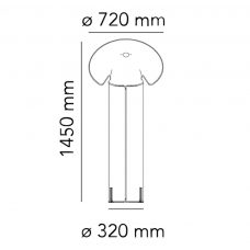 Flos Chiara Floor Lamp Line Drawing