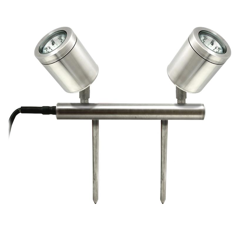 Hunza Twin Bar 12v Spike Light Stainless Steel