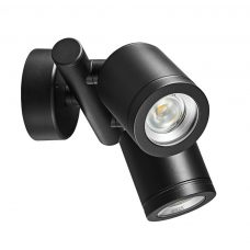 Hunza Twin Wall Spot 240v Twin Wall Light Black