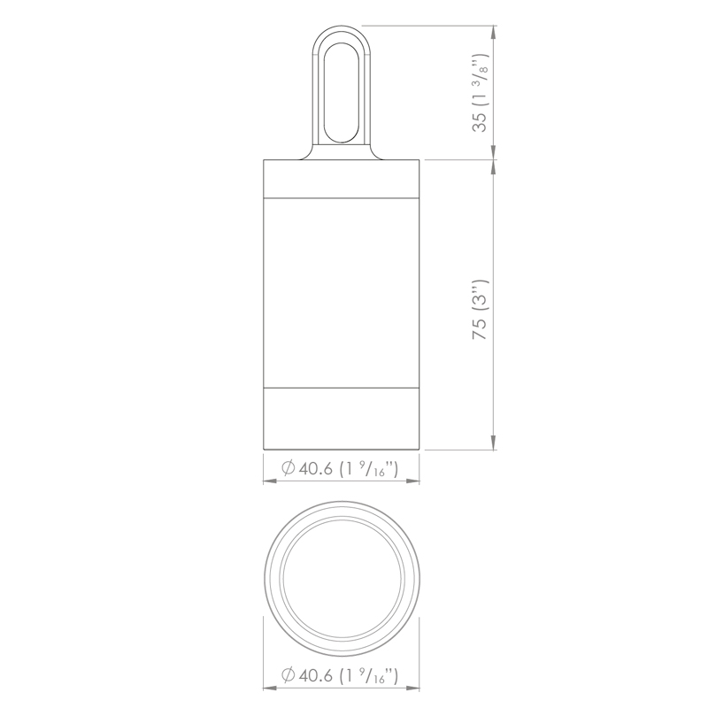 Luxr M2 Led Hanging Pendant Light Line Drawing