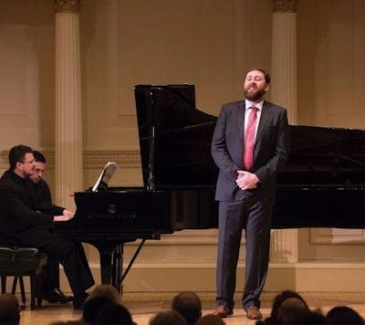 Carnegie Hall recital 25.3.17