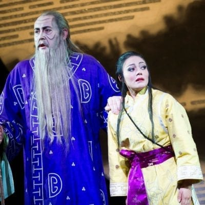 Turandot-14-02-14-ROH-642 ROSE AS TIMUR AND PEREZ AS LIU c ROH Tristram Kenton