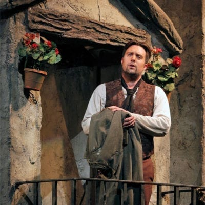 David Soar as Colline, La bohème, Metropolitan Opera, September 2014