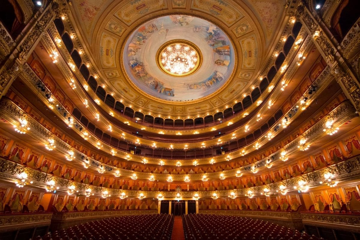 Inside the stunning Teatro Colón, credit: Neil Roux
