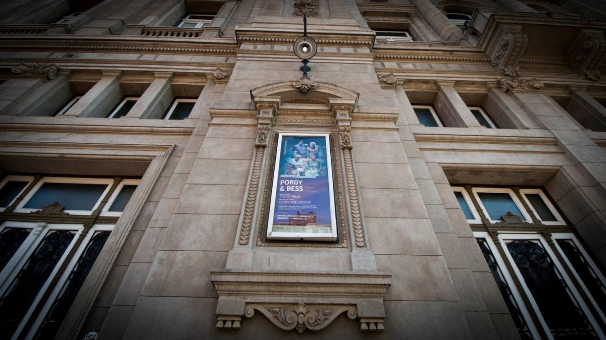 Cape Town Opera poster outside Teatro Colón, credit: Neil Roux
