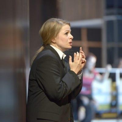 Siobhan Stagg as Gilda (Suit) - Rigoletto at Deutsche oper Berlin - October 2016. Photo credit Bettina Stöss. JPG