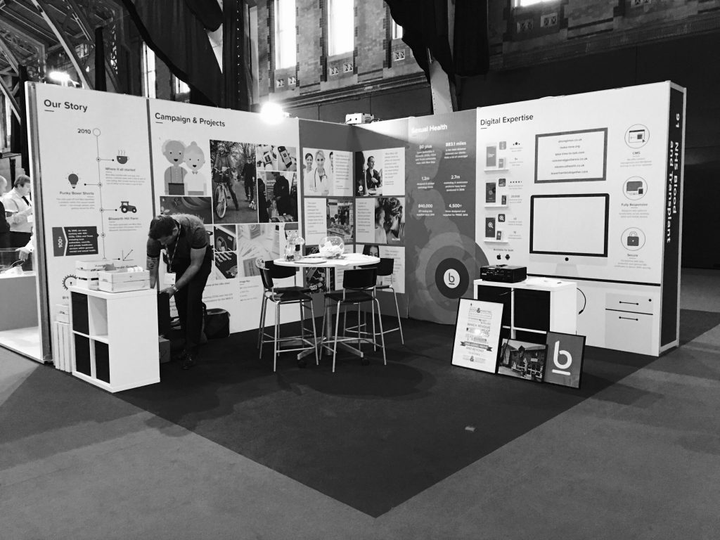 NHS expo 2016 for Bluestep design and marketing agency Northampton